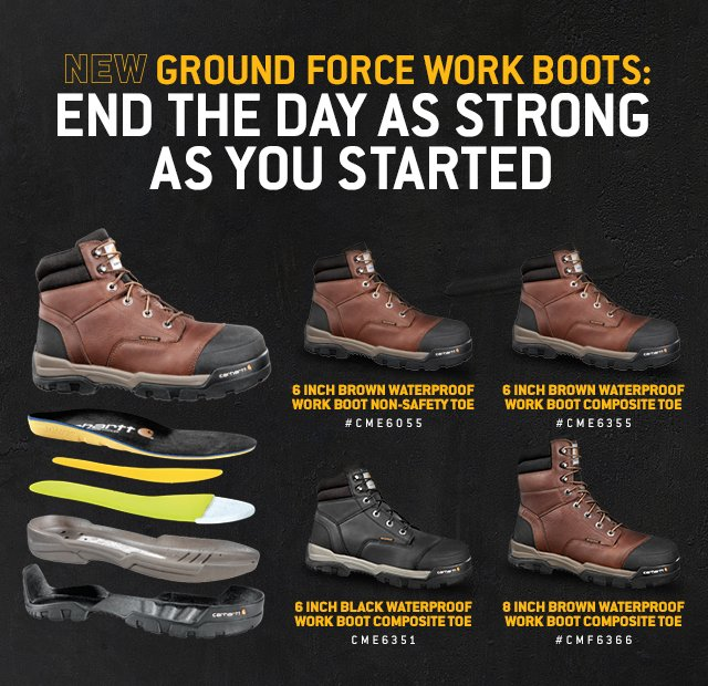 New Ground Force Work Boots: End The Day as Strong as you Started, Shop Now