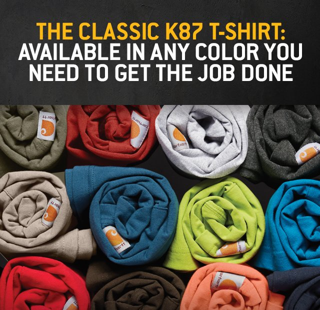 The classic k87 t-shirt, Available in any color you need to get the job done