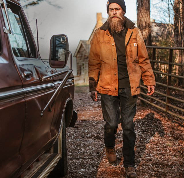 Earn 25 dollars in Carhartt Bucks, when spending $150 on Carhartt gear, shop men's outerwear, shop women's outerwear